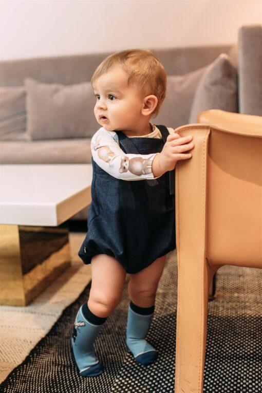 HEBE - sokken - blauw - konijn - Eileen4Kids