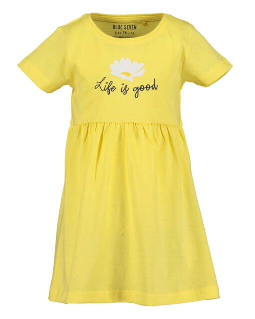 Blue Seven - jurk - geel - Eileen4Kids