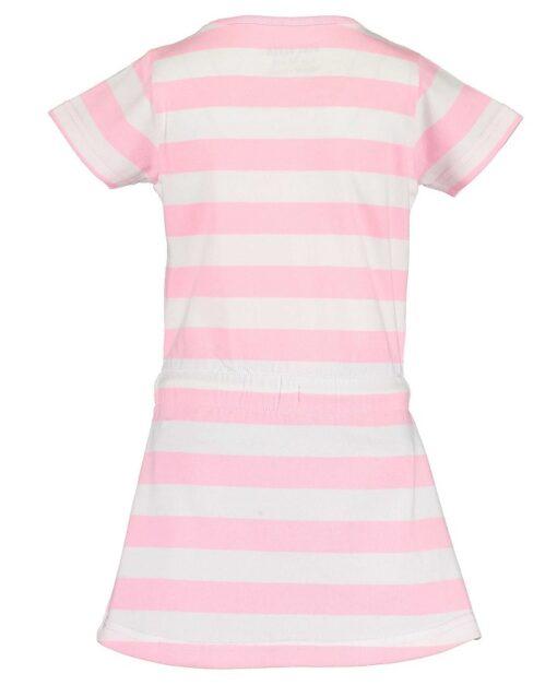 Blue Seven - jurk - gestreept roze - Eileen4Kids