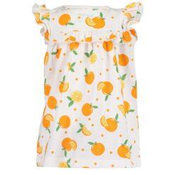 Blue Seven - jurk - sinaasappel - Eileen4Kids