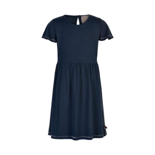 Creamie - jersey jurk - effen blauw - Eileen4Kids