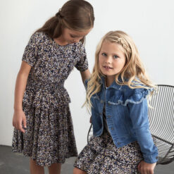 Creamie - jurk - korte mouwen - blauw - Eileen4Kids