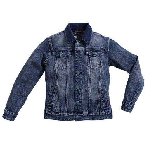 Blue Barn Jeans - spijkerjasje - dirty stone - lichte wassing - Eileen4Kids
