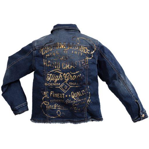 Blue Barn Jeans - spijkerjasje - vintage - donkere wassing - Eileen4Kids