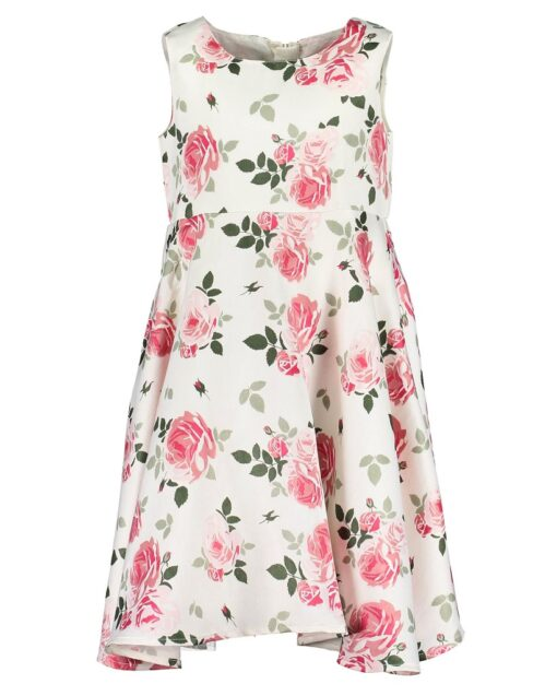 Blue Seven - jurk - mouwloos - gebloemd - rose - Eileen4Kids