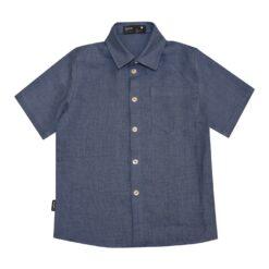 HEBE - jongens overhemd - effen blauw - Eileen4Kids