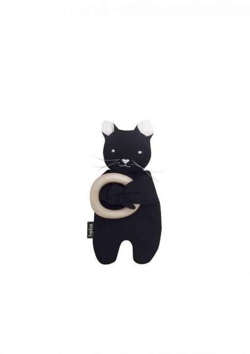 HEBE - knuffel met bijtring - kat