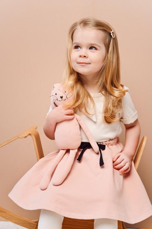 HEBE - knuffeldier - konijn - effen roze - Eileen4Kids