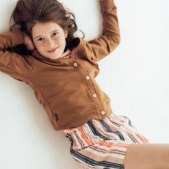 HEBE - meisjes korte broek - pastel gestreept - Eileen4Kids