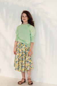 HEBE - rok - bloemenprint - geel - Eileen4Kids