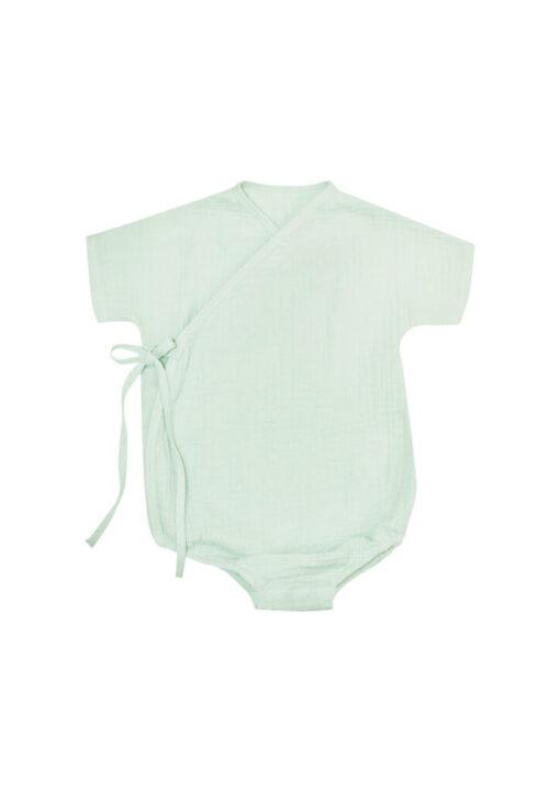 HEBE - romper - overslag - mousseline mint - Eileen4Kids
