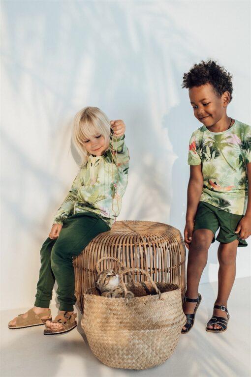 HEBE - jongens korte broek - groen - Eileen4Kids