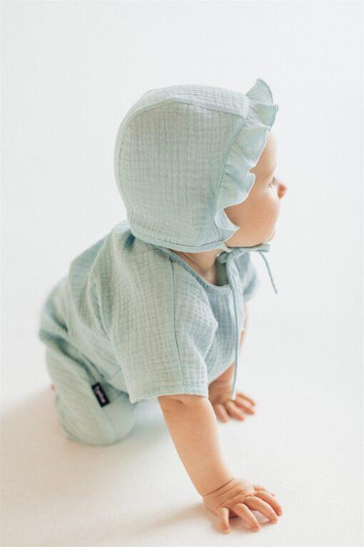 HEBE - newborn muts - mousseline mint - Eileen4Kids