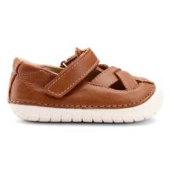 OLD SOLES - kinderschoen - pave thread - tan - Eileen4Kids
