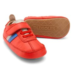 OLD SOLES - sneaker rework - red/gris/neon blue - Eileen4Kids