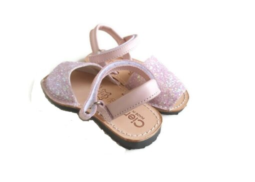 Cienta - kinderschoen - sandaal - glitter roze - Eileen4Kids