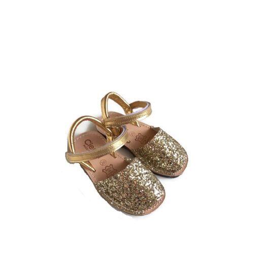Cienta - kinderschoen - sandaal - glitter goud - Eileen4Kids