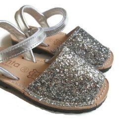 Cienta - kinderschoen - sandaal - glitter zilver - Eileen4Kids