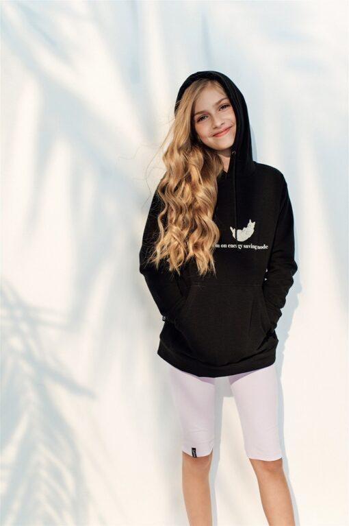 HEBE - hoodie - zwart - Eileen4Kids