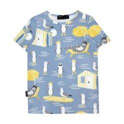 HEBE - t-shirt - zomerse dierenprint - blauw
