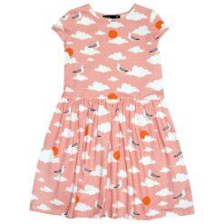 Hebe - jurk - korte mouwen - cloud - roze - Eileen4Kids