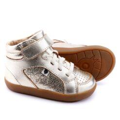 OLD SOLES - kinderschoen - hoge sneaker - spartan - gold pebble - Eileen4Kids