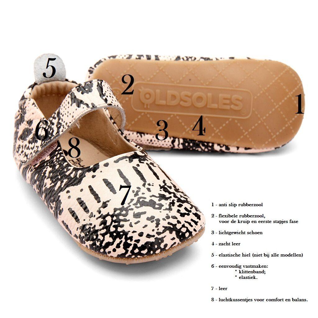 OLD SOLES – ballerina's – copper - Eileen4?Kids