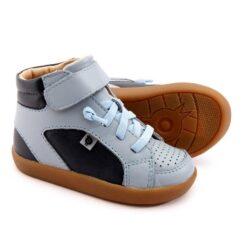 OLD SOLES - kinderschoen - hoge sneaker - spartan - dusty blue navy - Eileen4Kids