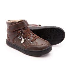 OLD SOLES - kinderschoen - hoge sneaker - jungle jim - bruin - Eileen4Kids