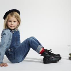 OLD SOLES - kinderschoen - swagger - navy tie dye - Eileen4Kids