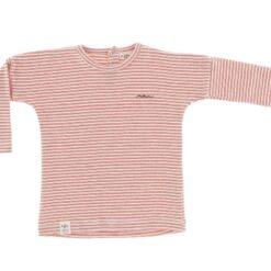 Riffle Amsterdam - shirt met lange mouwen - rib - rood
