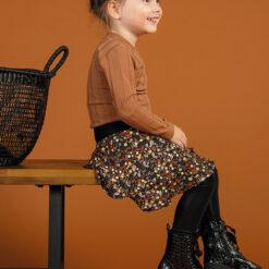 Kiezeltje - rok - gebloemd bruin