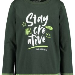 Blue Seven - jongens sweatshirt - olijf groen