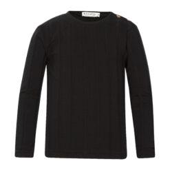 Kiezeltje - effen zwart shirt - Eileen4Kids