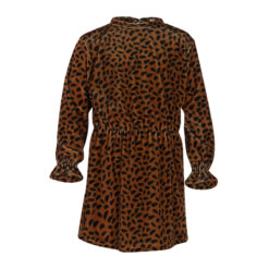 Kiezeltje - jurk - gestipt - bruin - Eileen4Kids