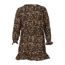 Kiezeltje - gebloemde bruine jurk - Eileen4Kids