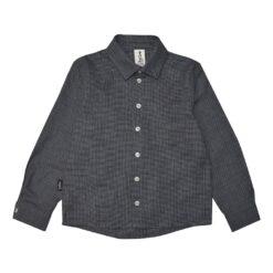 HEBE - overhemd - lange mouwen - geruit - blauw - Eileen4Kids