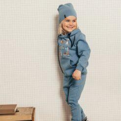 HEBE - hoodie - blauw - Eileen4Kids