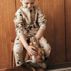 HEBE - sweater - honden print - Eileen4Kids