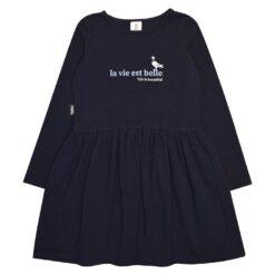 HEBE - jurk - lange mouwen - blauw - Eileen4Kids