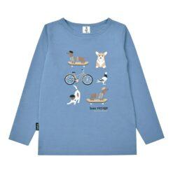 HEBE - shirt - lange mouwen - blauw - Eileen4Kids