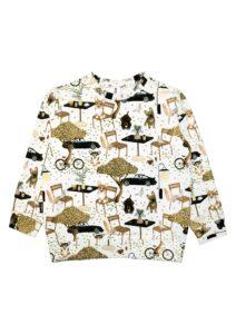 HEBE - sweater - cafe print - Eileen4Kids