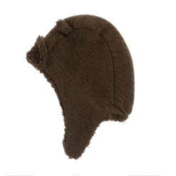 Riffle Amsterdam - baby muts - quilt - effen bruin - Eileen4Kids