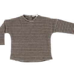 Riffle Amsterdam - shirt moon rib waffle bruin - Eileen4Kids